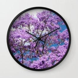 Jacaranda Tree Wall Clock