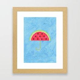Juicy Umbrella Framed Art Print