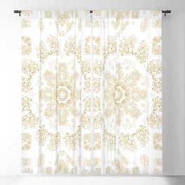 Golden floral ornament Blackout Curtain