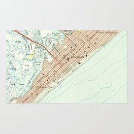 Vintage Map of Wildwood NJ (1955) Rug