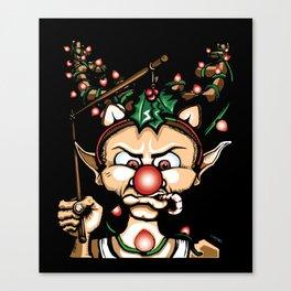 Grumpy Elf (Shadows) Canvas Print