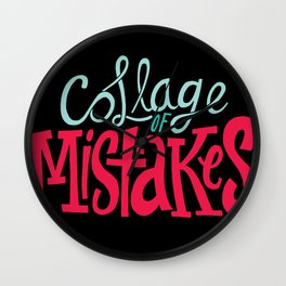 Collage of Mistakes Wall Clock