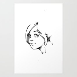 SMILE AT ME. Art Print