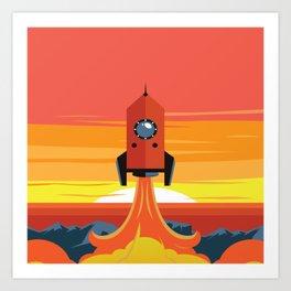 Deco Rocket Art Print