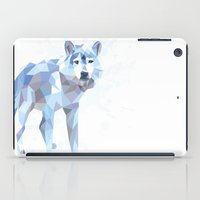 low poly iPad Cases featuring Low Poly Wolf by idrux
