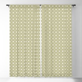 Cream on Earthy Green Parable to 2020 Color of the Year Back to Nature Polka Dot Grid Pattern Blackout Curtain