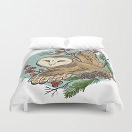 Winter Owl Duvet Cover