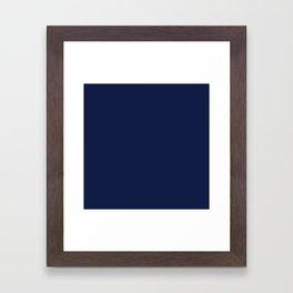 Navy Blue Minimalist Framed Art Print