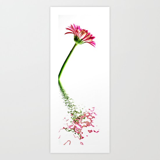 Pink Gerbera Flood 5 Art Print