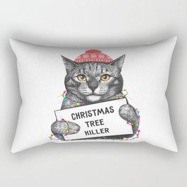 Christmas tree killer Rectangular Pillow