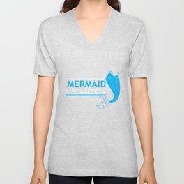 Mermaid Hairstylist Cute Gift Hairdresser Unisex V-Neck