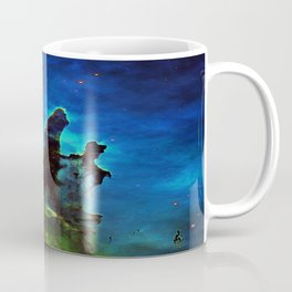 NEbula. : Teal Green Pillars of Creation Coffee Mug