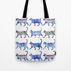Cat Collection – Blue Palette Tote Bag