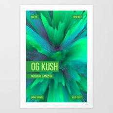OG KUSH Art Print