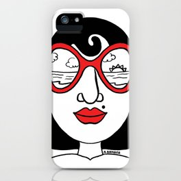 California Dreaming Sunset View Sunglasses Woman iPhone Case