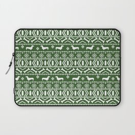 Dachshund fair isle christmas dog breed gifts for dog lover pet art cute holiday doxie dogs Laptop Sleeve