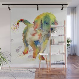 Colorful Puppy - Little Friend Wall Mural