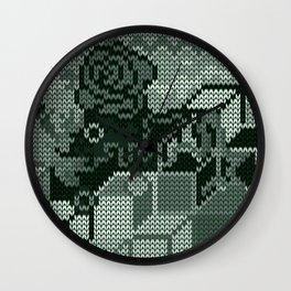 knitted rosedeer Wall Clock