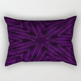 Eggplant Purple Rectangular Pillow