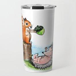 squirrel & hedgehog Travel Mug
