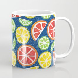 Vitamin C Super Boost - Citric Fruits on Blue Coffee Mug