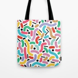 Summer Rainbow Squiggles Tote Bag
