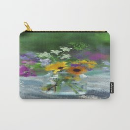 Wild Flower Jar Carry-All Pouch