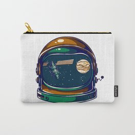 Astronaut Helmet - Satellite and the Moon Carry-All Pouch