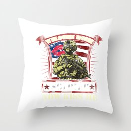 Welcome Home Soldier, Now Kiss Me! Military Throw Pillow