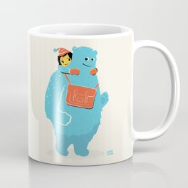 Blue-Monster Piggy-Ride Coffee Mug