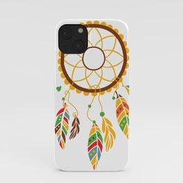 dream catcher in bright colours iPhone Case