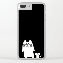 cat and mouse 501 Clear iPhone Case