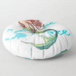 Mermaid: Let the sea set you free Floor Pillow