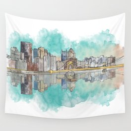 Pittsburgh Sunset Wall Tapestry