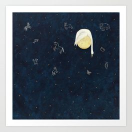 Sleeping on the Moon Art Print