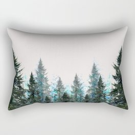 MOUNTAIN FOREST PINES LANDSCAPE  ART Rectangular Pillow