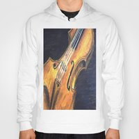violin Hoodies featuring Violin by Renny Hendra