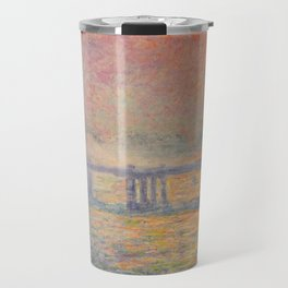 Charing Cross Bridge (Saint Louis), Claude Monet Travel Mug