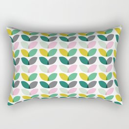 Abstract floral blooms summer print Rectangular Pillow