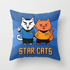 STAR CATS!  Throw Pillow
