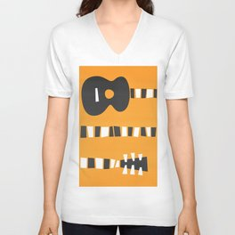 Retro Guitar Unisex V-Neck