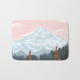 Mount Hood National Park Poster, Portland Oregon, Pacific Northwest, Vintage Retro Travel Poster Bath Mat