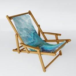 Blue Aqua Agate Sling Chair
