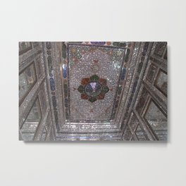 Mirror Room Ceiling Qavam House Shiraz, Persia, Iran Metal Print