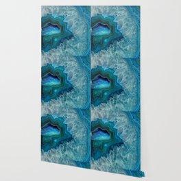Teal Druzy Agate Quartz Wallpaper