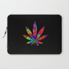 Rainbow Cannabis Leaf Laptop Sleeve