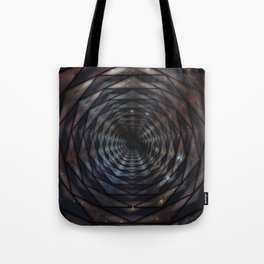 Heptagon space portal - high speed Tote Bag