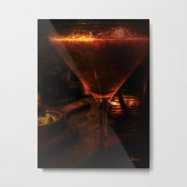 Strawberry Martini Metal Print