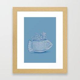 Fish pot Framed Art Print