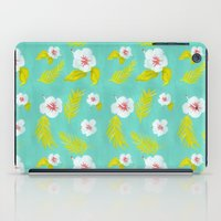 hibiscus iPad Cases featuring Hibiscus by Maya Bee Illustrations